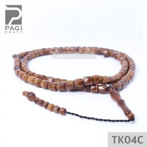 Tasbih Kokka Cutting Mardjan 99 Coklat 8mm