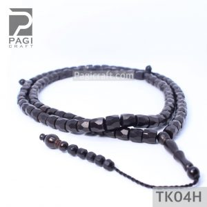 Tasbih Kokka Cutting Mardjan 99 Hitam 8mm